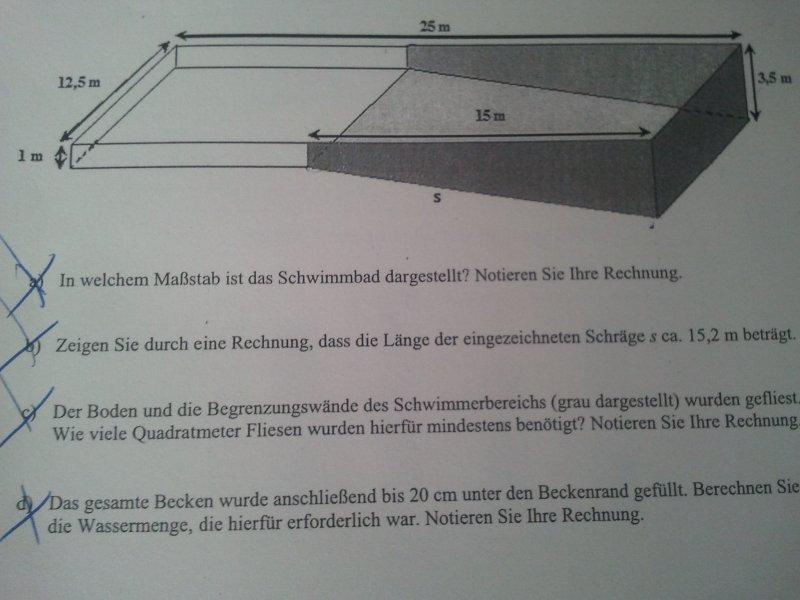 volumenberechnung erforderliche wassermenge f r schwimmbad berechnen realschule stufe 10. Black Bedroom Furniture Sets. Home Design Ideas