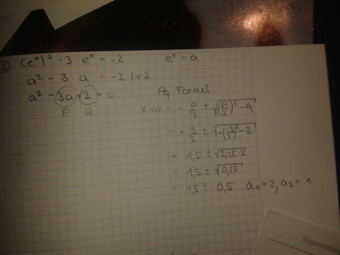 Muss Man Bei Der Substitution Die Pq Formel Benutzen Ex2 3e