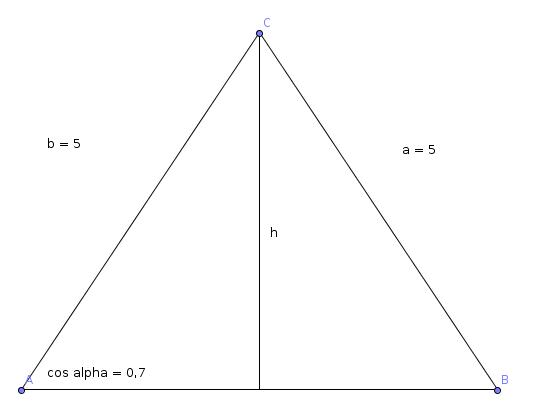 trigonometrie 1 berechnung von seite und h he des. Black Bedroom Furniture Sets. Home Design Ideas