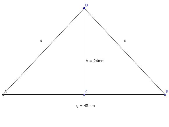 von einem gleichschenkligem dreieck s berechnen g und h. Black Bedroom Furniture Sets. Home Design Ideas