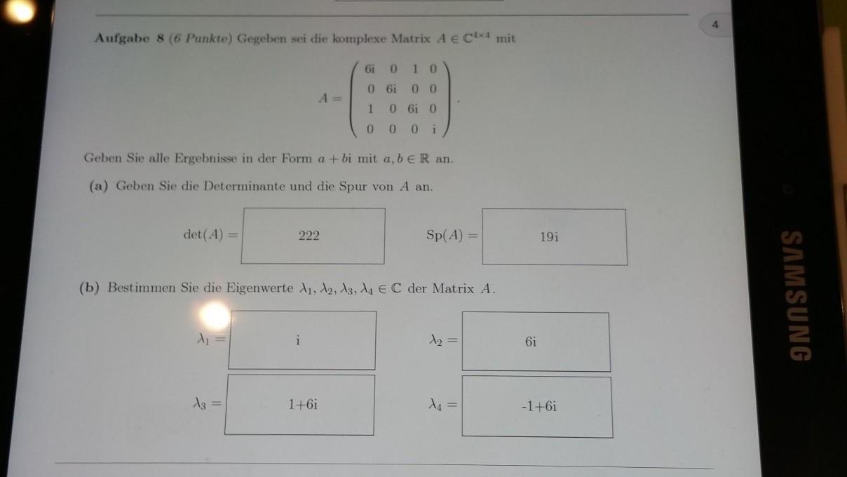 vektor aufgabe lambdas eigenwerte einer matrix berechnen mathelounge. Black Bedroom Furniture Sets. Home Design Ideas