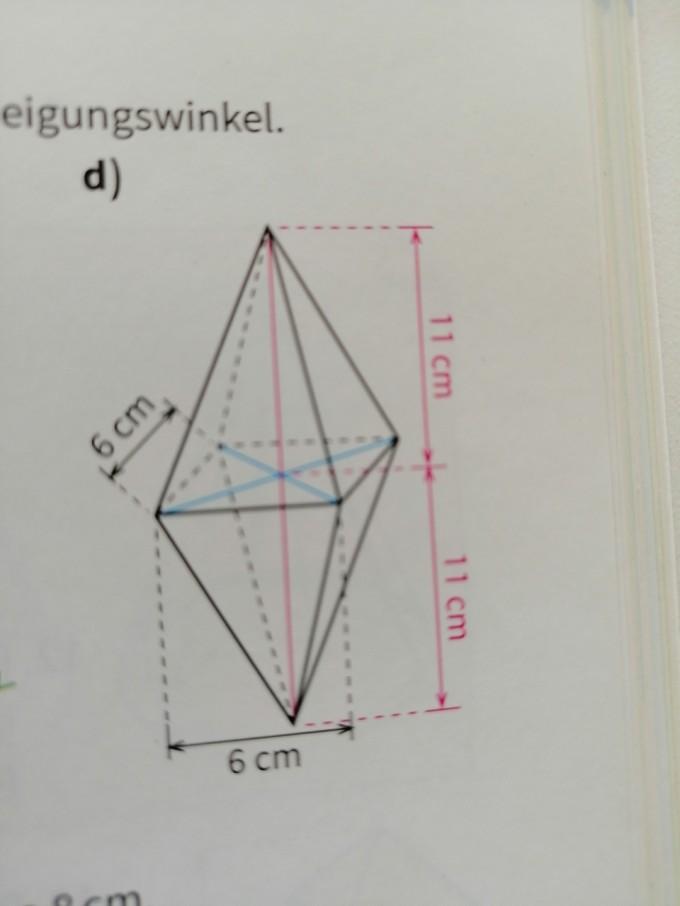 oberflächeninhalt pyramide
