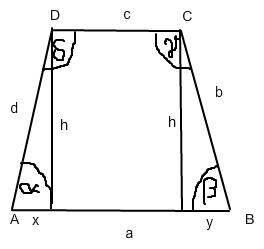 trigonometrie berechnen in einem trapez mit pythagoras und winkelfunktionen mathelounge. Black Bedroom Furniture Sets. Home Design Ideas
