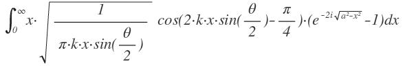 Kompliziertes Integral lösen [Besselfunktion] | Mathelounge