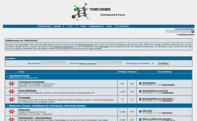 Screenshot Tomchemie