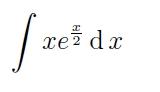integral integrale berechnen ohne grenzen x e x 2 dx mathelounge. Black Bedroom Furniture Sets. Home Design Ideas
