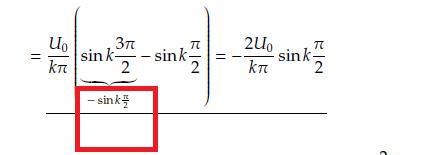 sinus mathematisches problem sin k 3 2 sin k. Black Bedroom Furniture Sets. Home Design Ideas
