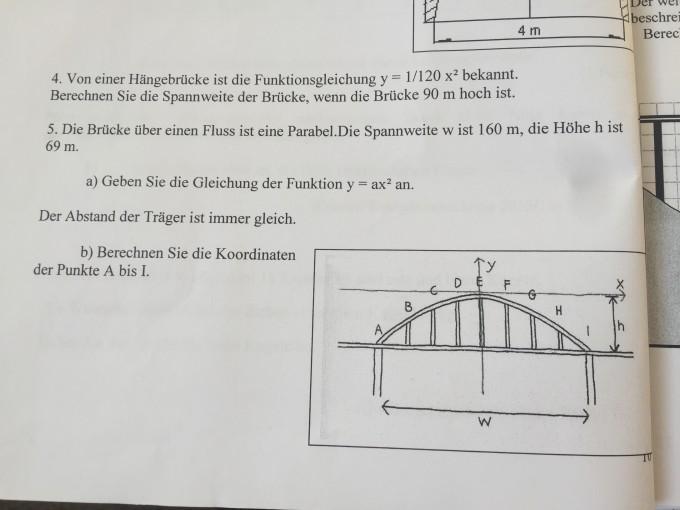h ngebr cke und br cke ber fluss parabelgleichung. Black Bedroom Furniture Sets. Home Design Ideas