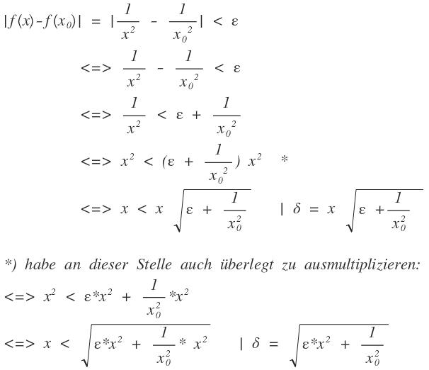Stetigkeit Mit Epsilon Delta Kriterium Mathelounge