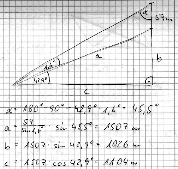 trigonometrie berg mit 59m hohem aussichtsturm mathelounge. Black Bedroom Furniture Sets. Home Design Ideas