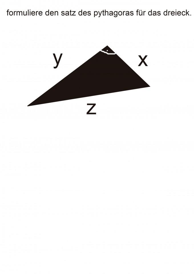 satz des pythagoras f r das dreieck formulieren mathelounge. Black Bedroom Furniture Sets. Home Design Ideas