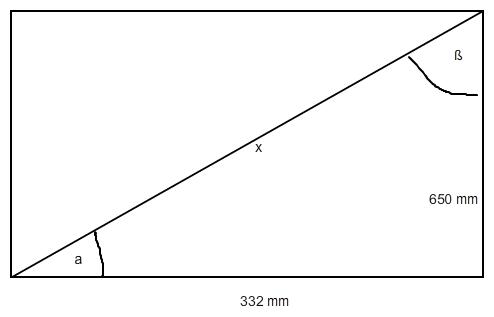 winkel der verstrebung berechnen rechteck mit diagonalen. Black Bedroom Furniture Sets. Home Design Ideas