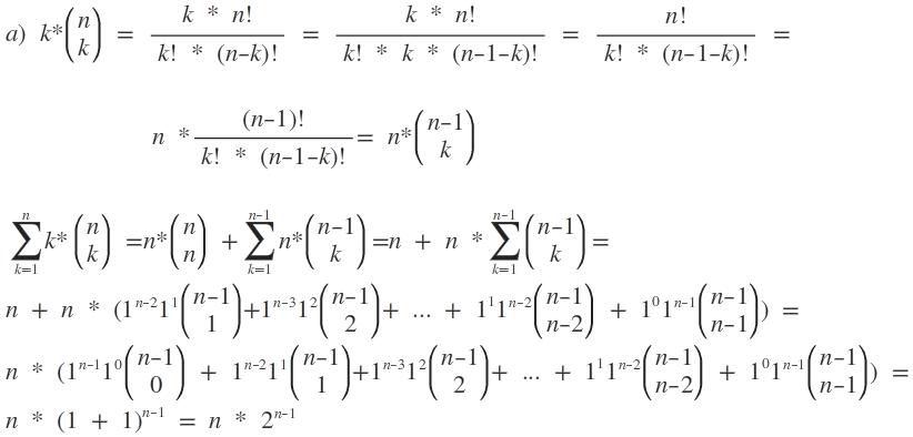 summen berechnen mit hilfe des binomischen lehrsatzes
