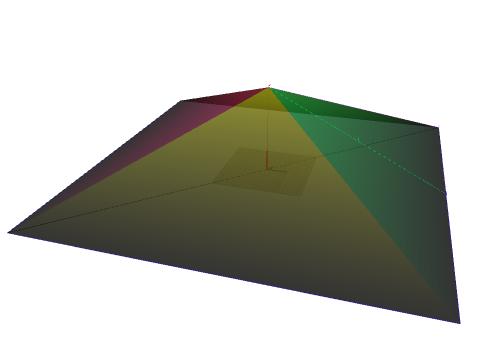 Eine pyramide hat eine quadratische grundfl che h he for Hohe rechtwinkliges dreieck