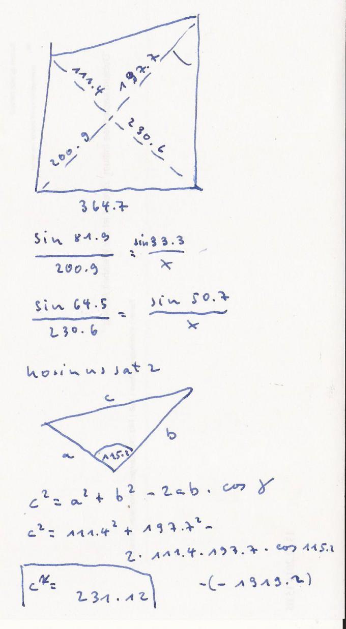 triangulation zur berechnung von x nutzen mathelounge. Black Bedroom Furniture Sets. Home Design Ideas