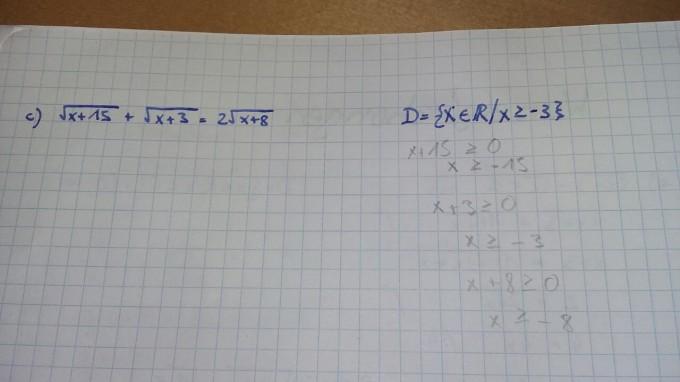 Eine Wurzelgleichung mit 3 Wurzeln lösen: √(x+15) + √(x+3 ...