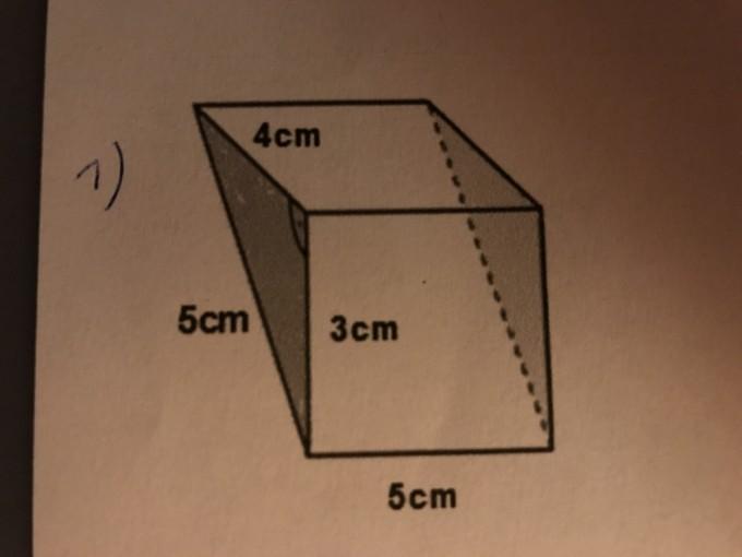 Oberfläche und Volumen des prismas berechnen | Mathelounge