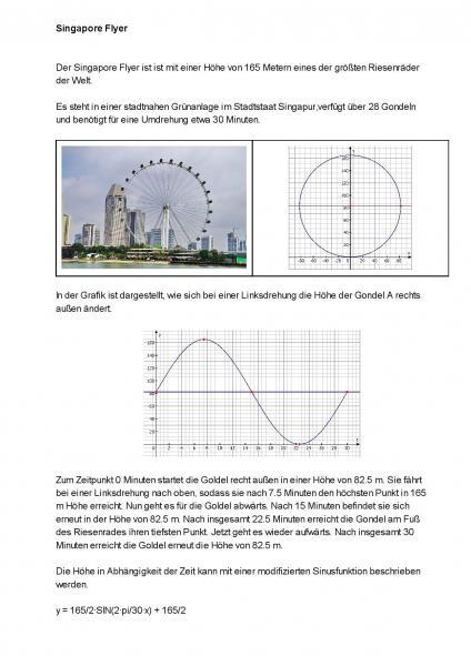 sinusfunktion h he im riesenrad singapore flyer mit der sinusfunktion berechnen mathelounge. Black Bedroom Furniture Sets. Home Design Ideas