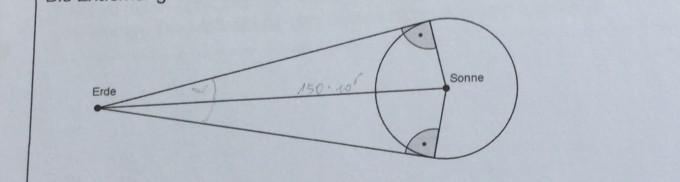 berechnen des radius der sonne und gib eine formel an. Black Bedroom Furniture Sets. Home Design Ideas