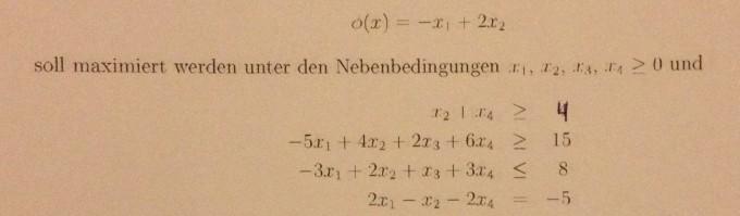 Simplex-Algorithmus Schlupfvariable   Mathelounge