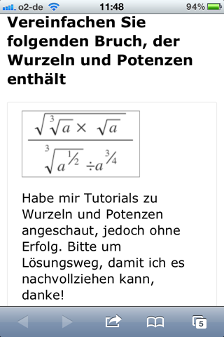 mathe-forum iphone fragenansicht