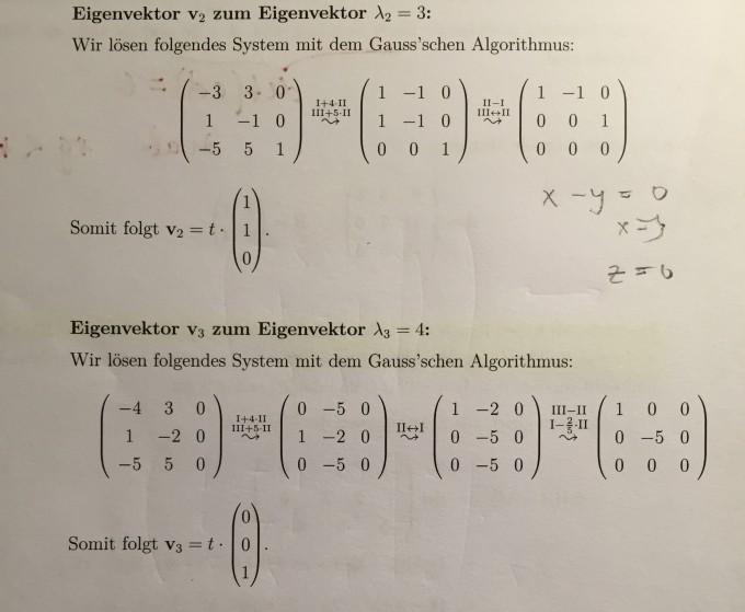 eigenvektor zum eigenwert aufgabe berechnung mathelounge