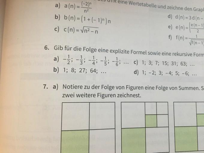 Eine Rekursive Und Explizite Formel Für Folgen Anbeben Zb1827