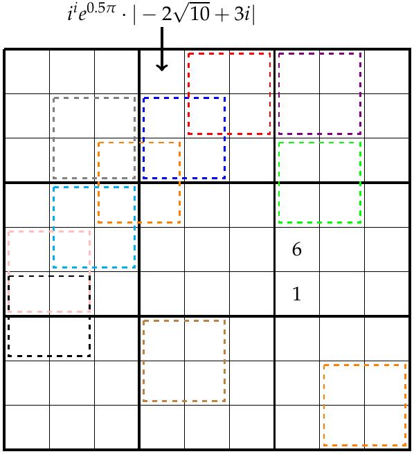 mathe r tsel 001 matrizen sudoku mathelounge. Black Bedroom Furniture Sets. Home Design Ideas