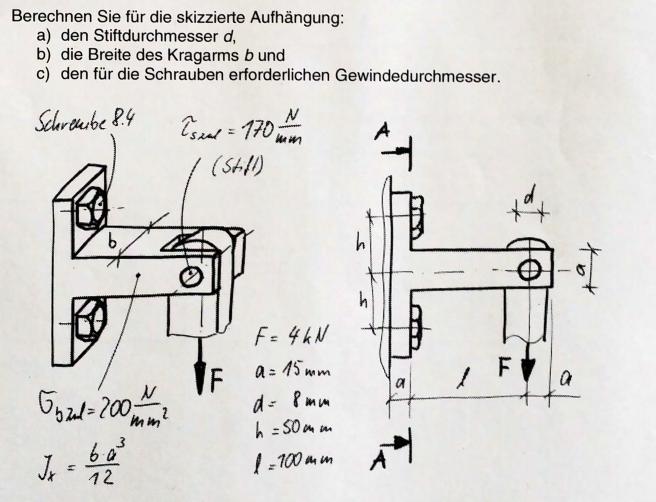 schrauben und balkenberechnung mathelounge. Black Bedroom Furniture Sets. Home Design Ideas