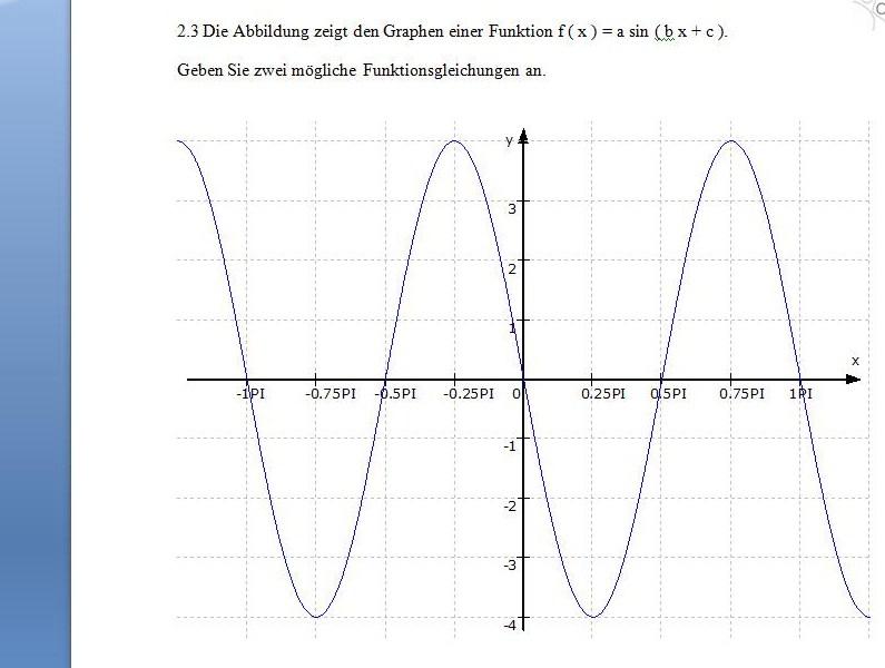 sinusfunktionen am graphen erkennen f x a sin bx c. Black Bedroom Furniture Sets. Home Design Ideas