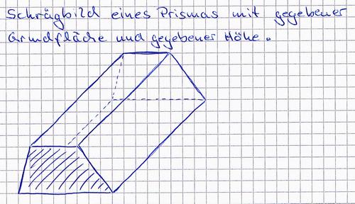 schr gbild eines prismas wie zeichnet man das mathelounge. Black Bedroom Furniture Sets. Home Design Ideas