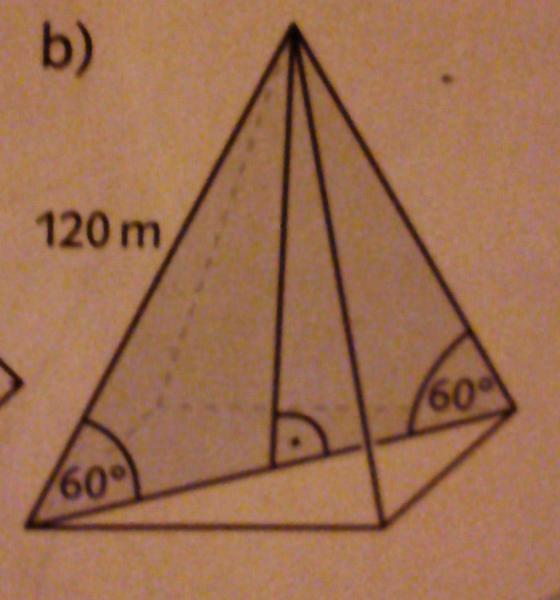 mantelfl che und oberfl che einer pyramide berechnen. Black Bedroom Furniture Sets. Home Design Ideas