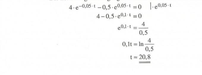 E Funktion Gleichung Lösen