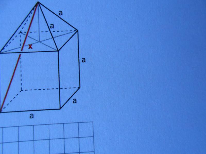 stereometrie berechne die l nge der roten strecke f r a. Black Bedroom Furniture Sets. Home Design Ideas