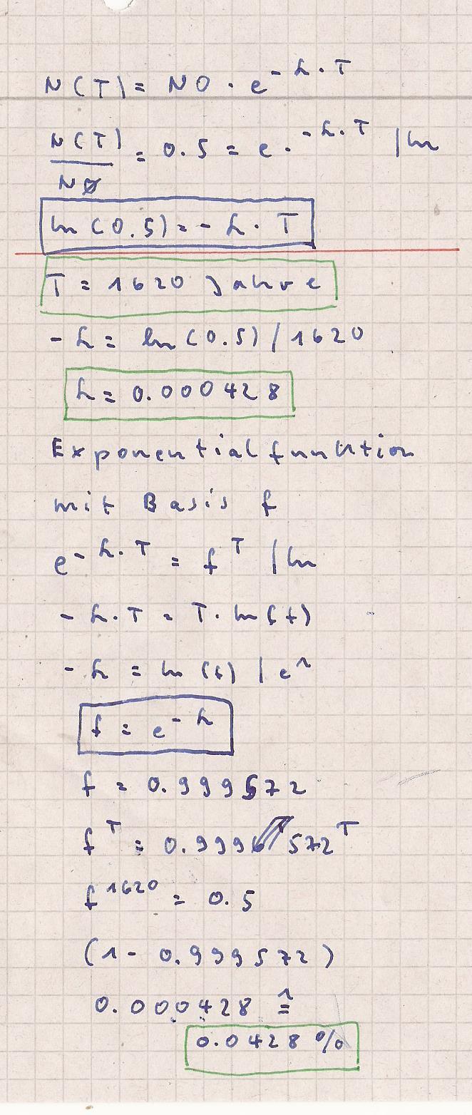 radioaktiver zerfall formel