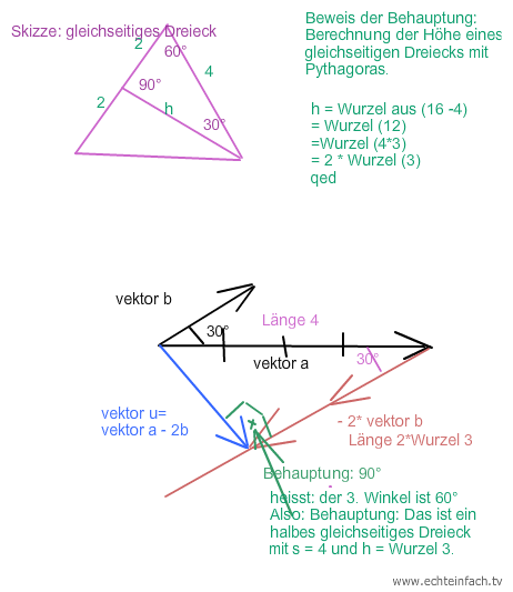 aus vektorl nge den vektor berechnen um zu zeigen dass die vektoren orthogonal sind mathelounge. Black Bedroom Furniture Sets. Home Design Ideas