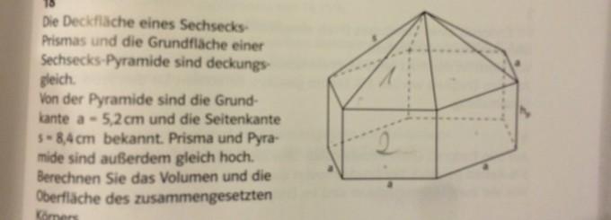 sechseck pyramide berechnen regelm iges sechseck fl. Black Bedroom Furniture Sets. Home Design Ideas