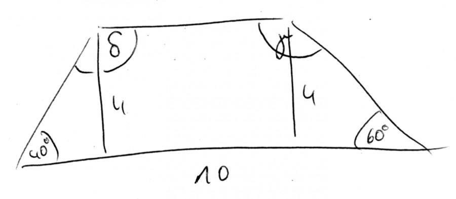 trapez aufgabe zum trapez mit a 40 60 ab 10cm und h 4 cm winkel berechnen mathelounge. Black Bedroom Furniture Sets. Home Design Ideas