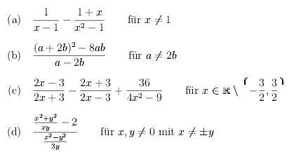 Vereinfachung Und Berechnung Von Termen 1x 1 1xx2 1