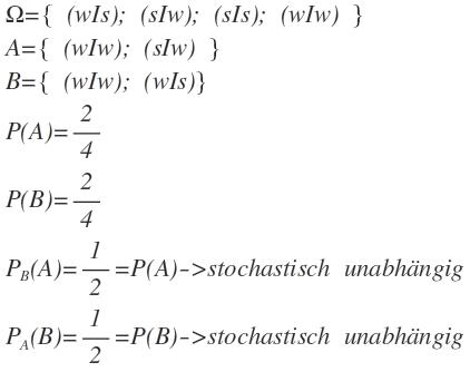 Stochastische Unabhängigkeit Mathelounge
