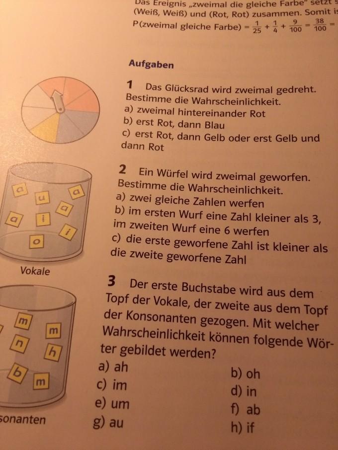 Großartig Math 2 Wahrscheinlichkeit Arbeitsblatt Ideen - Mathematik ...