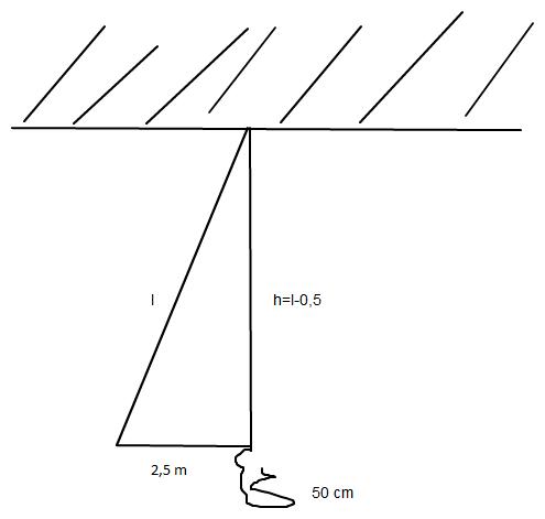 pythagoras seill nge in einer turnhalle ausrechnen mathelounge. Black Bedroom Furniture Sets. Home Design Ideas