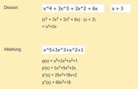 Neues Programm: Polynomrechner online   Mathelounge