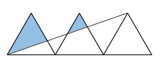 dreieck drei gleichseitige dreiecke wie gro ist die. Black Bedroom Furniture Sets. Home Design Ideas