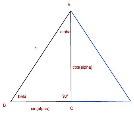 trigonometrie in einem rechtwinkligen dreieck sind nur. Black Bedroom Furniture Sets. Home Design Ideas