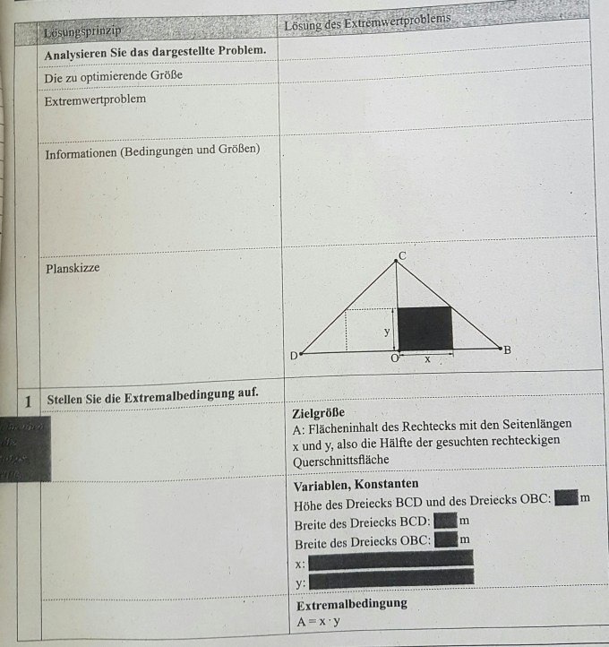 Vorgehensweise bei Extremwertaufgaben | Mathelounge
