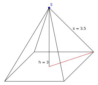 volumen quadratische pyramide mit s h mathelounge. Black Bedroom Furniture Sets. Home Design Ideas