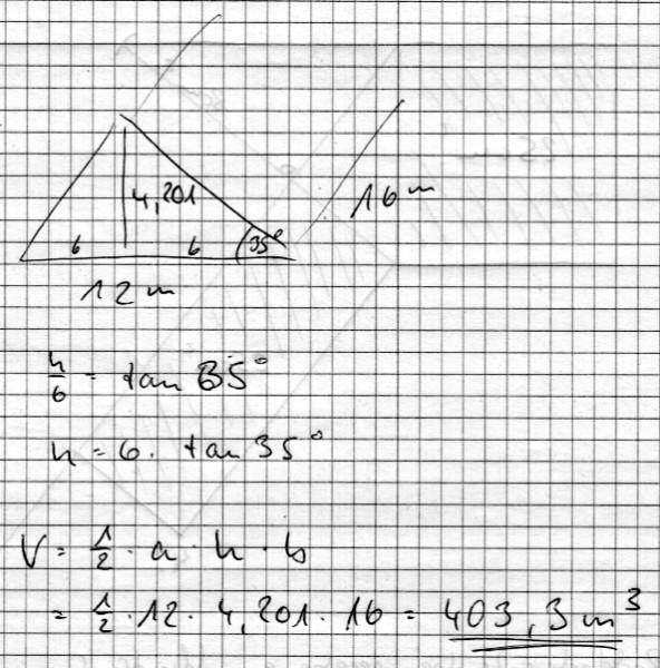 Ein rechteckiges haus hat die seitenl ngen a 12 m for Rechteckiges haus