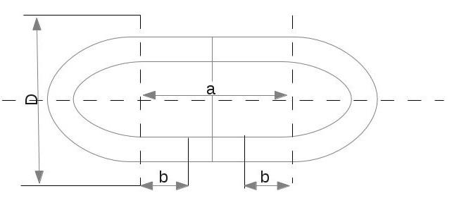 technische zeichnung bogen eines kettengliedes mathelounge. Black Bedroom Furniture Sets. Home Design Ideas