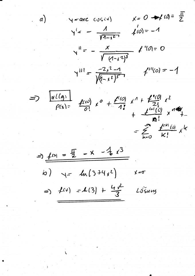 Taylorpolynom Und Konvergenzradius Berechnen Mathelounge